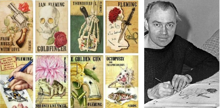 8 of the original Bond novel Jackets by Richard Chopping