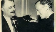 Ian Fleming with Geoffrey Boothroyd