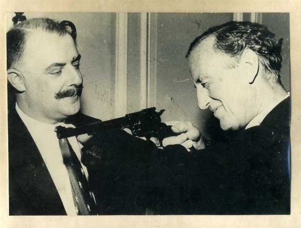 Ian Fleming with Geoffrey Boothroyd