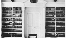 Fleming's library in his home at Sevenhampton, near Swindon