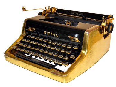 Royale Gold 1953 typewriter