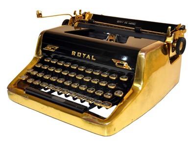 Royale Gold 1953 typewriter