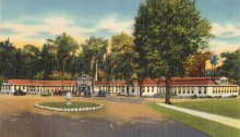 Saratoga sulphur and mud baths, Eureka Park, Saratoga Springs, N. Y.