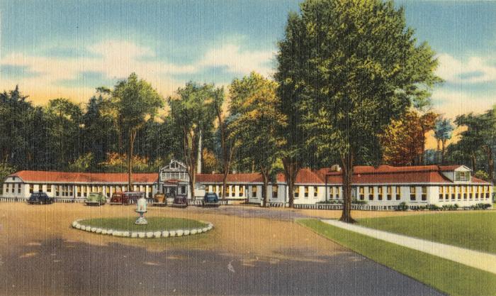 Saratoga sulphur and mud baths, Eureka Park, Saratoga Springs, N. Y.