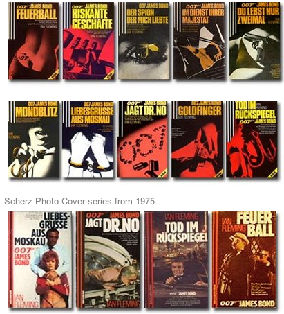 German James Bond Novels by Scherz, published between 1977 and 1980