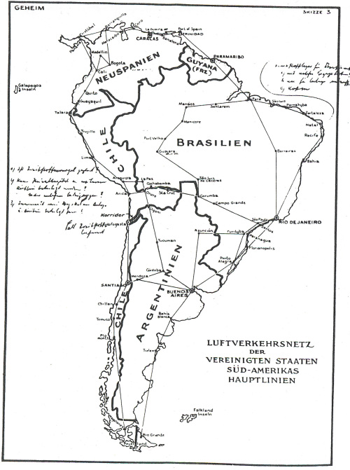 Ivar Bryce's forged Nazi Map of South America
