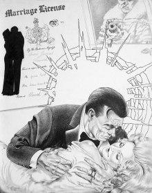 Illustration by George Almond (Courtesy of www.007magazine.com )
