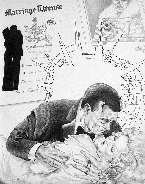 Illustration by George Almond (Courtesy of www.007magazine.com )