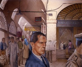 Bond at the Bazaar | Illustration © George Almond