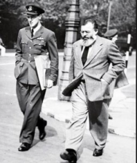 Dahl with Ernest Hemingway