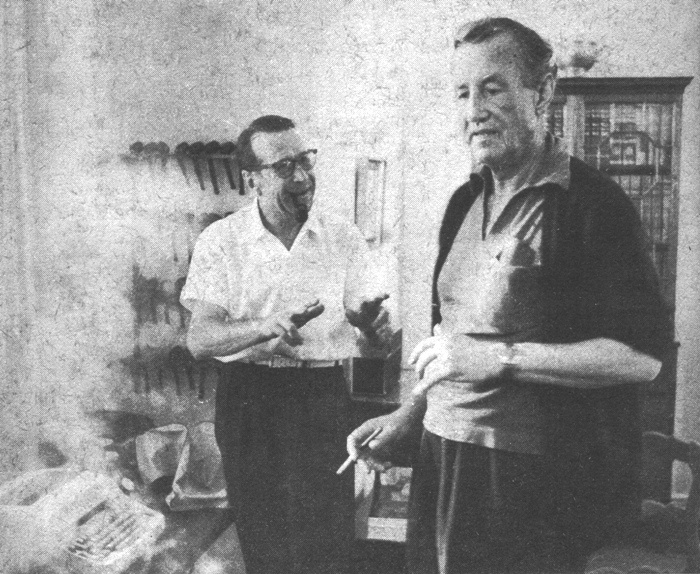 Ian Fleming with George Simeon