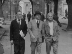 Fleming in Istanbul on set of From Russia With Love with Robert Shaw (far right)