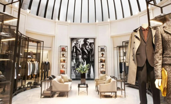 Burberry men only store, Knightsbridge, London