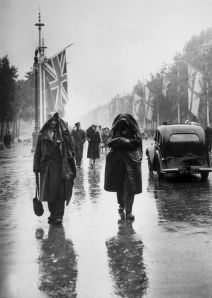 circa 1946:  The Victory Day Parade in London, which was marred by the rain.  (Photo by Keystone/Getty Images)