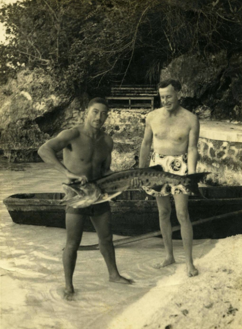 Ian Fleming with Barrington Roper
