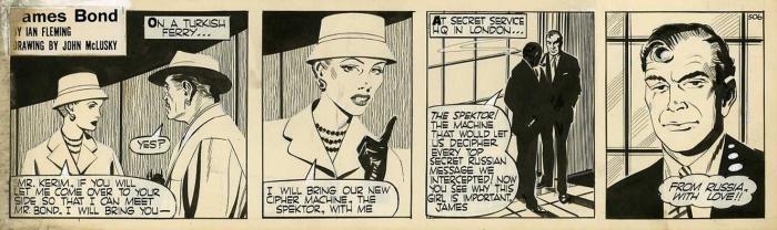 John McLusky - From Russia With Love comic strip original artwork james bond 007