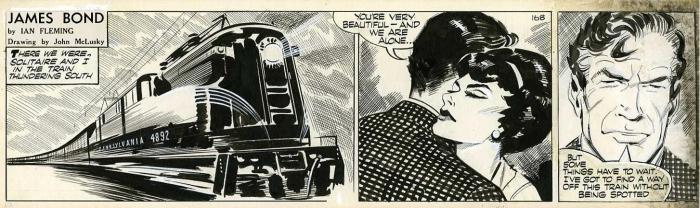 John McLusky - live and let die comic strip original artwork james bond 007