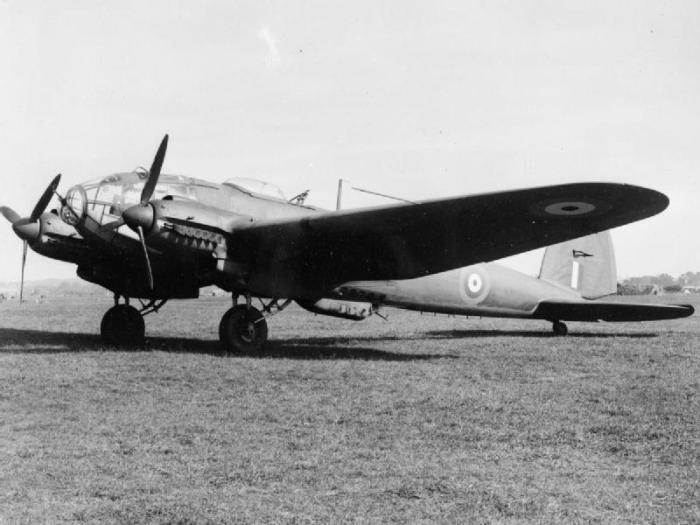 The captured Heinkel He 111, AW177, painted in RAF markings at RAF Duxford