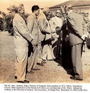 Prime Minister Anthony Eden in Jamaica