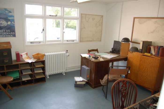 Reconstruction of Alan Turing's office in Hut 8 at Bletchley [Image: http://www.britishlistedbuildings.co.uk]