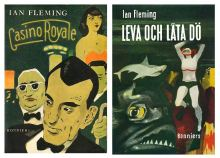 swedish-first-editions james bond 007 ian fleming book covers 1