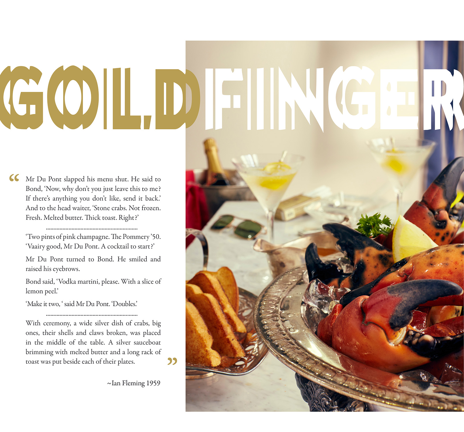 Dying to Eat – The Food of Literary James Bond   Artistic Licence ...