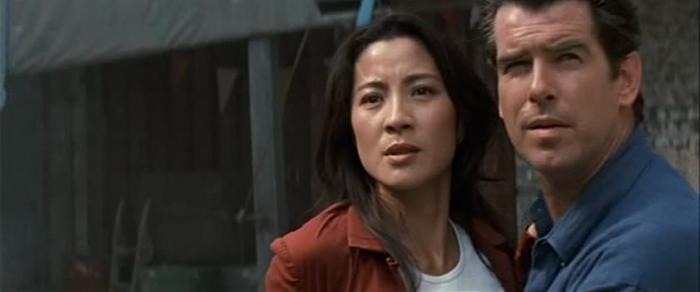 Michelle Yeoh and Pierce Brosnan in 'Tomorrow Never Dies'