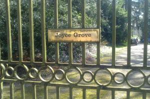 The gates to Joyce Grove