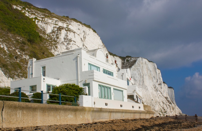 White Cliffs at St. Margaret's Bay, Kent where Ian Fleming lived