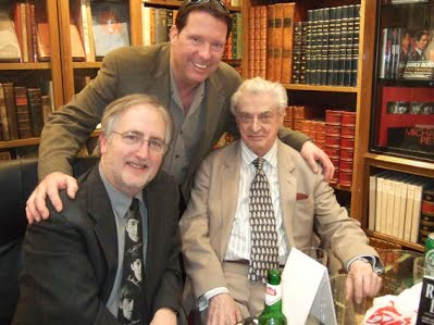 photo: Raymond Benson, Doug Redenius (VP of the Ian Fleming Foundation), and Peter Janson-Smith in London.