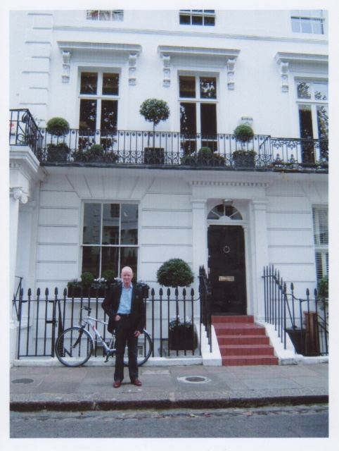 David outside 30 Wellington Square