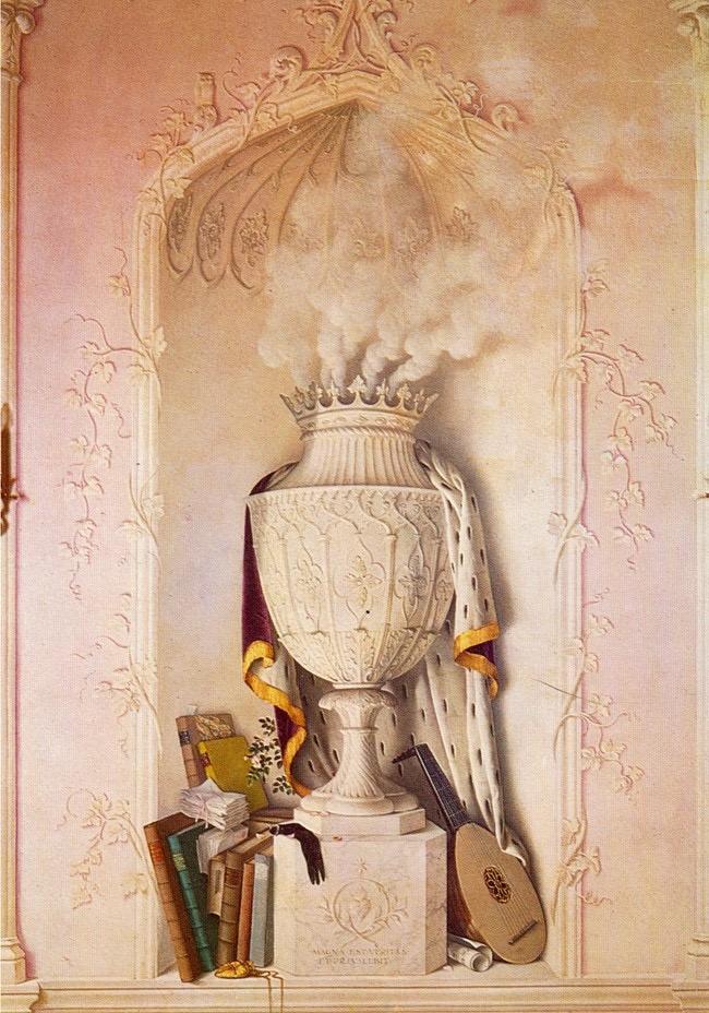 Rex Whistler's trompe l'oeil 'smoking urn'