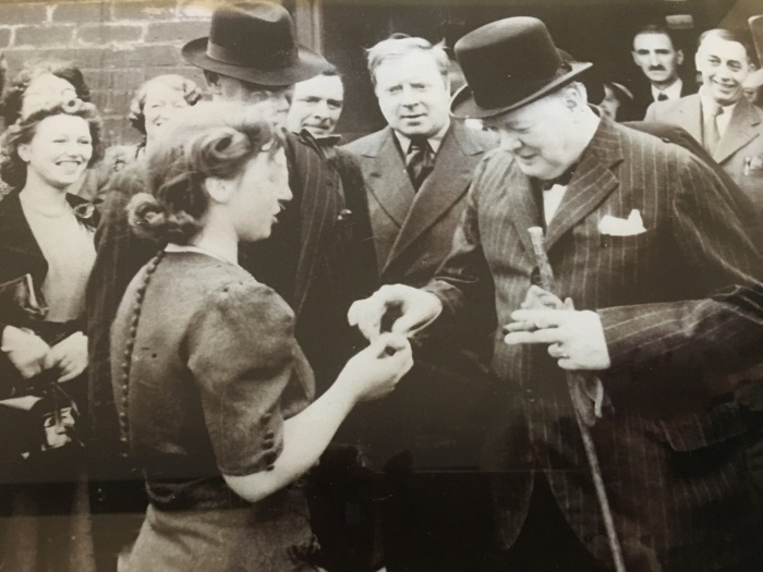 Gladys with Winston Churchill