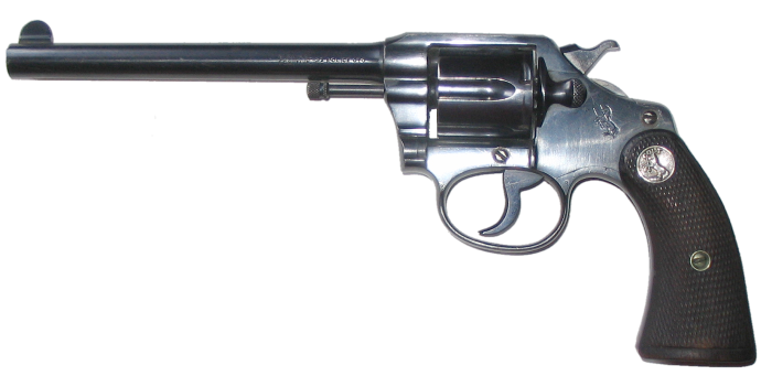"Colt .38 Police Positive with 6"" Barrel"