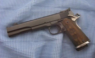 Colt M1911 modified with long-slide and long-barrel