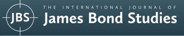 The International Journal of James Bond Studie
