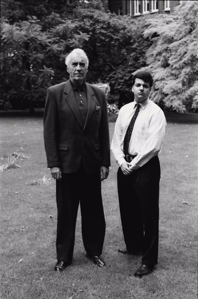 Sir Christopher Lee with Craig Cabell