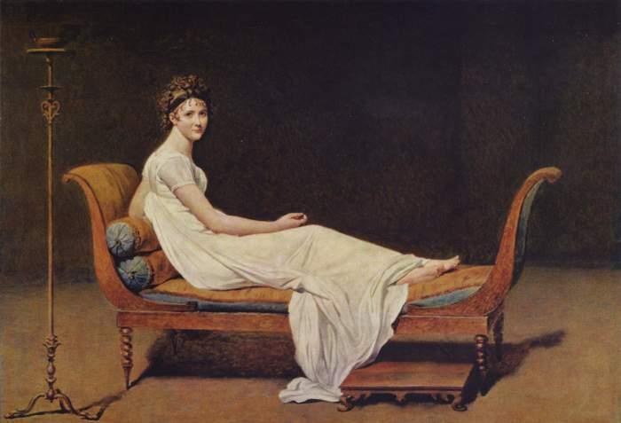 Jacques-Louis David portrait of Juliette Recamier