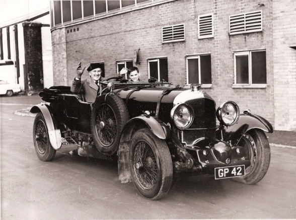 Amherst and his son Charles in the Blower Bentley that they restored in California. (W. O. Bentley Memorial Foundation)