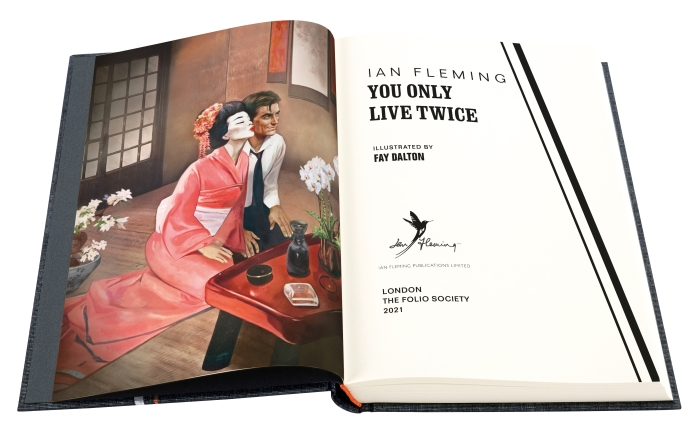 Illustration ©Fay Dalton 2021 form The Folio Society edition of You Only Live Twice